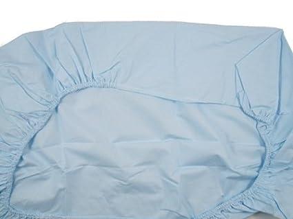 Ti TIN Pack 2 Spannbettlaken f/ür minicot // 100/% Baumwolle//verstellbar mit Gummizug 50x80 cm 1 1 Wei/ß Blatt Blatt Himmelblau