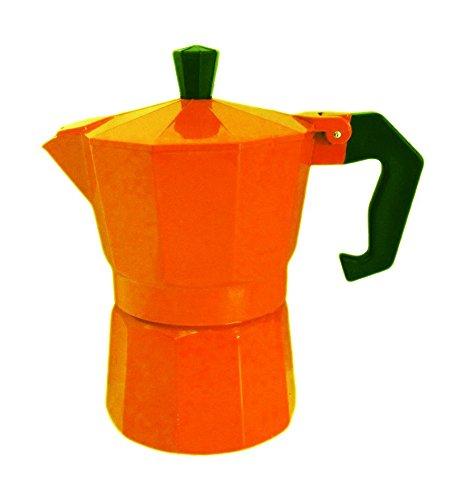 Edel HÖFF Orange Espressokocher 3 Tassen Edel Höff