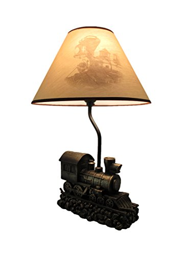 - Light in the Tunnel Steam Train Engine Table Lamp with Shade