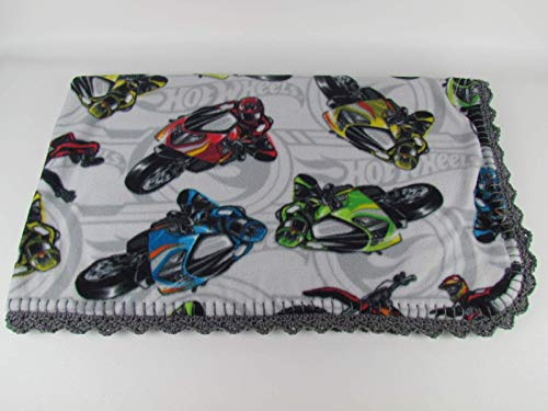 Hot Wheels Motorcycles Large Fleece Blanket (Large Baby/Small Toddler)