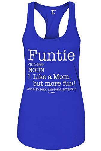 Funtie Definition - Best Aunt Ever Women's Tank Top (Royal Blue, Small)