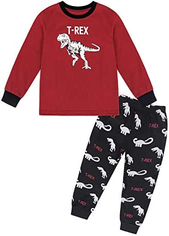 MetCuento Boys Pajamas 100/% Cotton Christmas Horse Toddler Pjs for Kids Children Long Sleeve Sleepwear Sets 2-8 Years