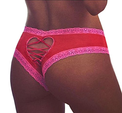 Kabbalah Red String Clothes - WSPLYSPJY Women's Lace Plus Size Panties Cute Over Size Red L