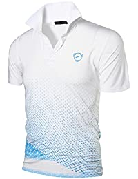 aa3b12b28f5f8e jeansian Men s Sport Outdoor Quick Dry Short Sleeves Polo Tee T-Shirt Tops  LSL195
