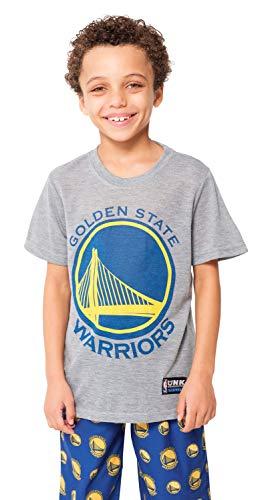 NBA Golden State Warriors Boys Pajamas 2 Piece Pjs Lounge Pants & Tee SetPajamas 2 Piece Pjs Lounge Pants & Tee Set, Royal, -