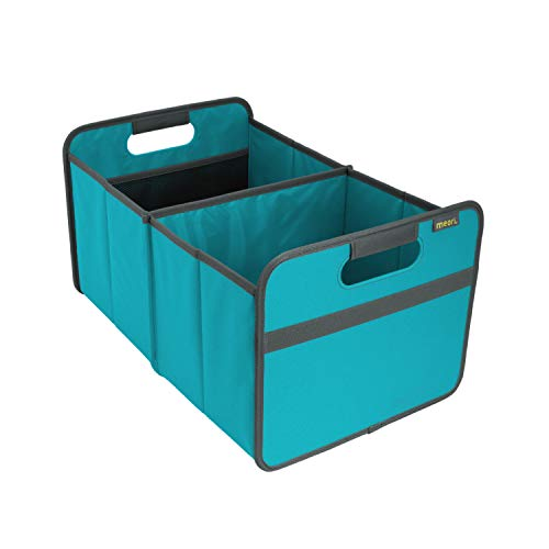 meori Classic Large Foldable Box for Trunk Organizer, Dorm, Shopping, Travel, Road Trip, Sports Gear, Camping, Picnics, Summer Living, Carry 65lbs, 12.6in x 10.8in x 19.7in, Azure Blue, 1 Pack,