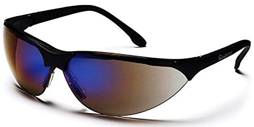 Pyramex Rendezvous Safety Eyewear, Blue Mirror Lens With Black Frame