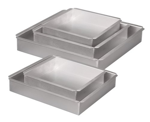 Parrish Magic Line 5-Piece Square Cake Pan Sets