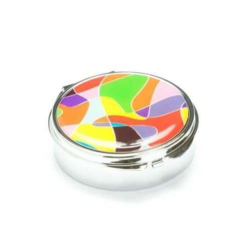 Vogue multicolore ronde Pill Box