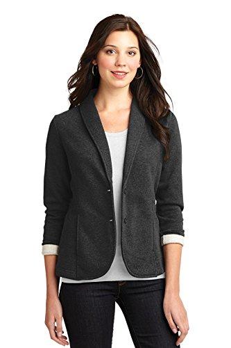 Port Authority Women's Fleece Blazer S Dark Charcoal Heather
