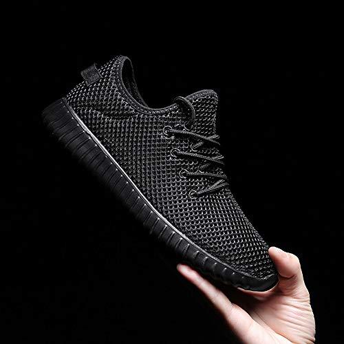 elastico Estate ZHZNVX Nero Sneakers Black da Scarpe Maglia Rosa Tacco Grigio donna Comfort Tessuto basso YwXUq1w