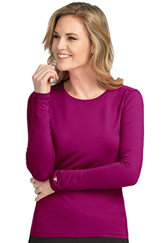 Med Couture Performance Longsleeve Knit Tee for Women, Rhubarb, Large