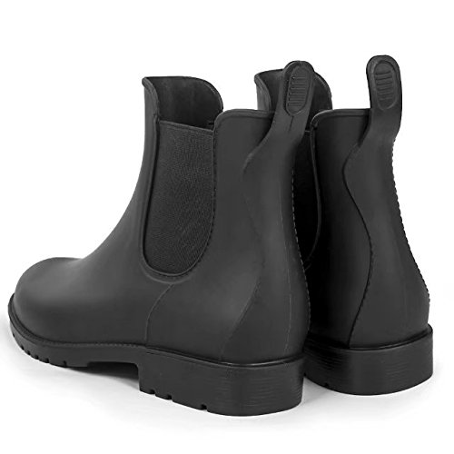 Image of Women's Short Rain Boots Anti Slip Waterproof Slip On Ankel Chelsea Booties