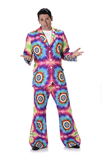 Men's Tie Dye Suit - Halloween Costume (M) - Mens 60's Halloween Costumes