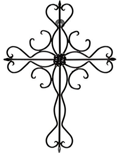 Elegant Brushed Metal Ornate Cross Home Wall Decor 14