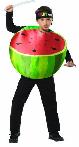[Rasta Imposta Childrens Costume, Fruit Ninja Watermelon, 7-10] (Fruit Costumes For Kids)