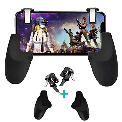 (Mobile Game Controller [Upgrade Version] Mobile Gaming Trigger for PUBG/Fortnite/Rules of Survival Gaming Grip and Gaming Joysticks for 4.5-6.5inch Android iOS Phone (Mobile Game Controller.))