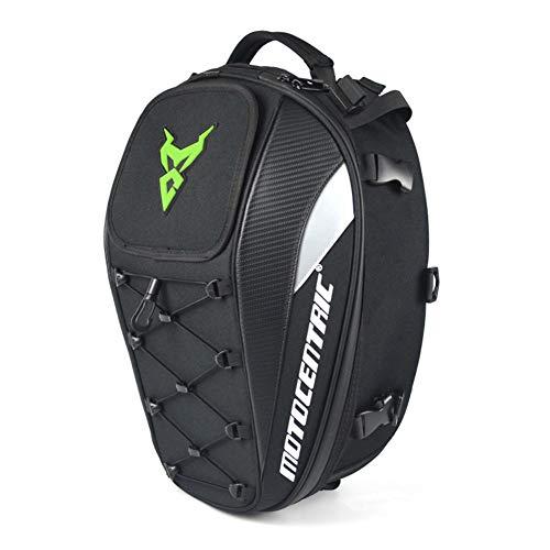 (xiaokkiss Motorcycle Tail Bag Seatback Tool Bag Multi-Functional Durable Rear Waterproof High Capacity Motorbike Helmet Bag Storage Bag Riding Backpack 11-MC-0102)
