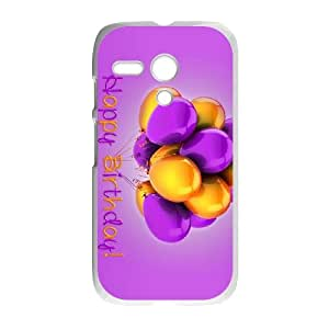 Purple Happy Motorola G Cell Phone Case White JU0012858
