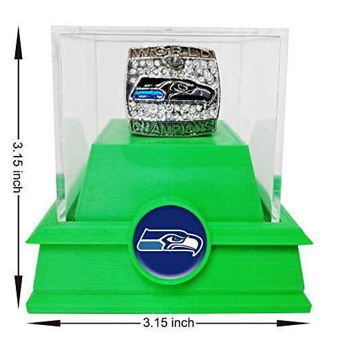 Nine Culture Replica Championship Ring for 2013 Seattle Seahawks Super Bowl Collectible Gift Fashion Ring(size8-13) with A Plastic Box (13) -