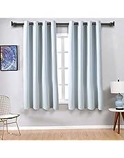 EASELAND Vorhang Blickdicht Vorhänge mit Ösen 2er-Set