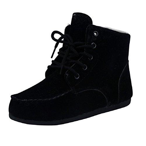 Botas Mujer,Ouneed ® Las nuevas mujeres mantienen vendaje corto invierno de botas de nieve caliente Negro