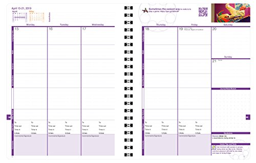 Aspire Student Planner (8.5 x 11 inches) August 2018 - July 2019 Academic Agenda - Inspiring Full Color Organizer for Goal Setting, Time Management, Study Skills & More - [Grades 6th - 12th] by Action Publishing (Image #5)