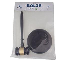 BQLZR Pure Handmade Wood Gavel Sound Block for Lawyer Court Judge Auction