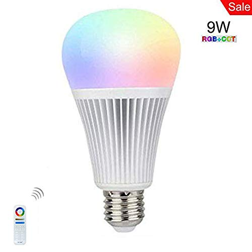 Mi-Light Dimmable Led Bulb E26 9W RGBCCT LED Spotlight Smart Led Lamp Work with Mi.Light 8-Zone Remote and Smartphone APP Control Via Mi.Light WiFi iBox For Sale