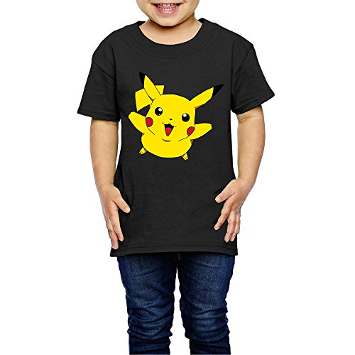 Child Pikachu Cute Happy Jump Printed Tees T Shirts