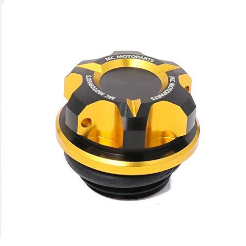 - MC MOTOPARTS T-Axis Gold CNC Oil Filler Cap For Honda CB500R CBR500R CBR650F CB650F CB1000R CBR600RR CBR1000RR 14 15 16 17 18 19 CBR500R CB500R CBR250RR CBR250R VFR 1200