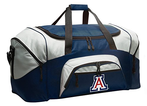 Large University of Arizona Duffel Bag Arizona Wildcats Gym Bags or Luggage by Broad Bay