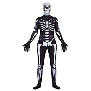 LOCOME Skull Trooper Halloween Kids Cosplay Costume Best Gift for Child Dress up (Kids-Large(Height:51-54Inch))