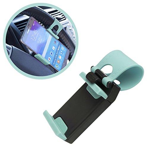 Bastex Sky Blue Hands Free Universal Phone Holder Steering W