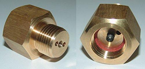Riempimento Adattatore per anidride carbonica/acciaio Gas per valvole con valvola di pressione residua High Tech Diving