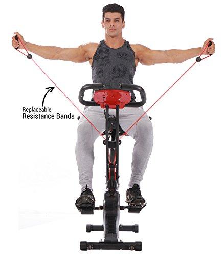 Exercise Bands Any Good: PLENY Upright Stationary Exercise Bike With Arm Exercise