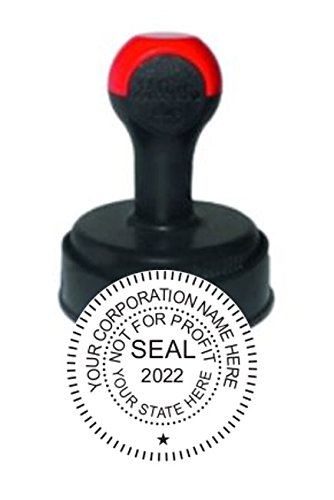 Not for Profit Corporate Seal Stamp, Circular Impression, 1-5/8