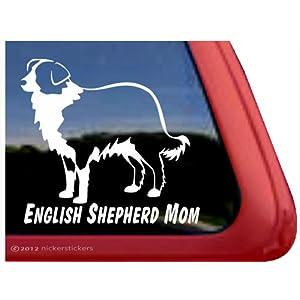 English Shepherd Mom ~ English Shepherd Vinyl Window Auto Decal Sticker 23