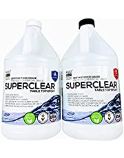SUPERCLEAR EPOXY RESIN Crystal Clear 2 Gallon Resin Food Safe Epoxy Kit for Casting Resin, Art Resin, Mica Powder, Pigment Powder, River Tables, Live Edge Tables, BAR Tops, COUNTERTOP EPOXY, 1:1 Ratio