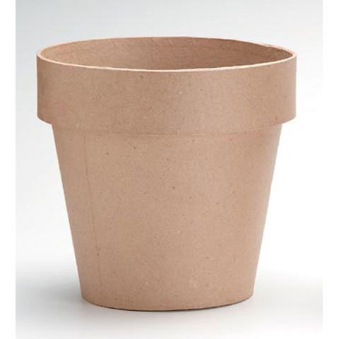 White Paper Mache - Bulk Buy: Darice DIY Crafts Paper Mache Clay Pot 4 x 4 inches (12-Pack) 2839-04