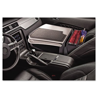 Gripmaster 01 Auto Desk W Retractable Writing Surface Amp  Supply Organizer  Gray  Sold As 1 Each
