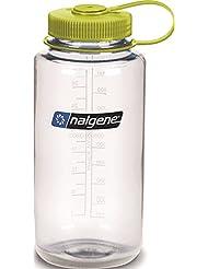 Nalgene Tritan Wide Mouth BPA-Free Water Bottle, Clear w/ Gre...