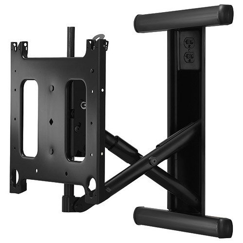 Chief PIWRF-2000B - Mounting kit ( swing arm, in-wall enclosure ) for flat panel - black - screen size: up to 65