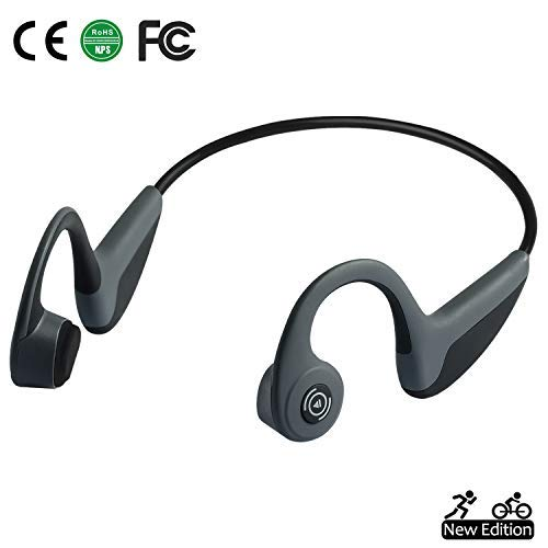 b227e622a6d Bone Conduction Headphones Bluetooth 5.0 Open-Ear Wireless Sports Headsets  w/ Mic for Jogging