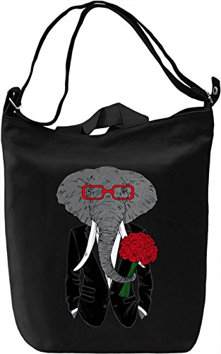 Date elephant Borsa Giornaliera Canvas Canvas Day Bag| 100% Premium Cotton Canvas| DTG Printing|