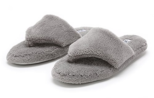 Indoor Slippers adults Thong Sole and Pembrook Flop girls Non on Foam Great Ladies Skid Outdoor Flip Gray � Comfortable Plush Spa Slip Memory women wRxE8xqtC