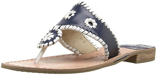 Jack Rogers Women's Palm Beach Navajo Sandal,Navy/White,8.5 M US by Jack Rogers