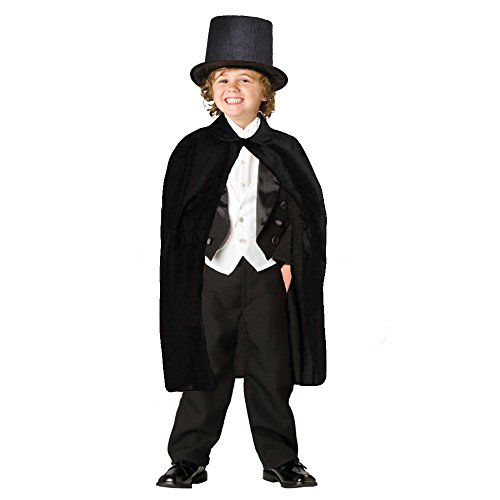 Children's Black Magician Hat and Cape For Childrens Magician Costume