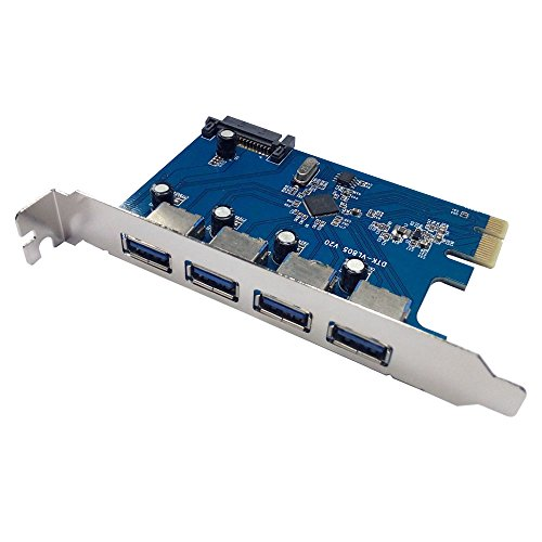 X-MEDIA 4-Port SuperSpeed USB3.0 PCI Express (PCIe) Controller Card for Desktop PC [XM-UB3204] by X-MEDIA USA