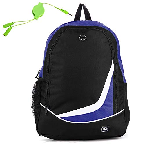 Price comparison product image Men Women Backpack with Retractable Headphone Splitter Cable Fit for Digital Storm Triton 15,  Nova 15,  for Razer Blade 15,  for Fujitsu LifeBook,  for LG Gram 15.6,  for Apple Macbook Pro 15